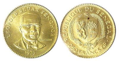 1975. Senegal. 250 Francs. CBU.