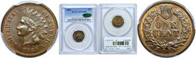 1868. PCGS. MS-63. BN.