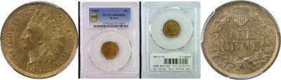1864 Bronze. PCGS. MS-64. RD.