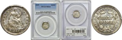 1849. PCGS. MS-64.