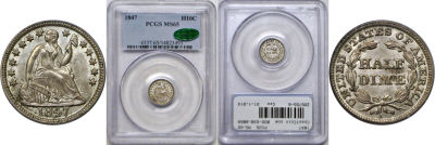 1847. PCGS. MS-65.