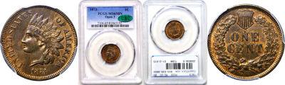1873. PCGS. MS-65. BN.