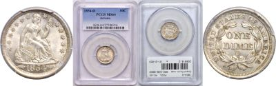 1854-O. PCGS. MS-64.