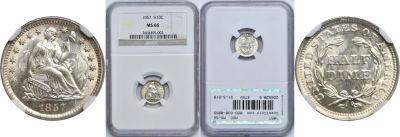1857. NGC. MS-66.