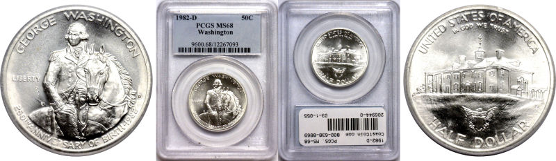 206944- 1982-D. PCGS. MS-68. Washington.