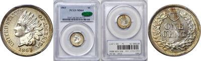 1863. PCGS. MS-64.