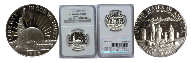 207094- 1986-S. NGC. PF-69. UCAM. Statue of Liberty.