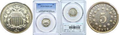 1871. PCGS. PR-66. CAM.