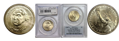2007-P. PCGS. MS-65. George Washington.
