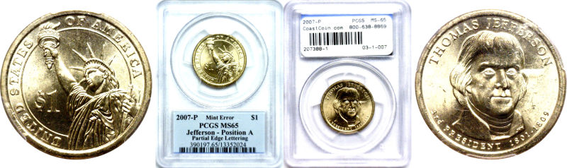 207388- 2007-P. PCGS. MS-65. Thomas Jefferson.
