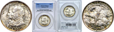 1921. PCGS. MS-66. Alabama, 2x2.