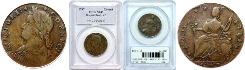 207777- 1787. Connecticut. PCGS. XF-45.