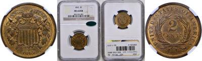1865. NGC. MS-64. RB.
