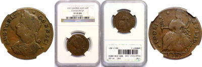 1787. Connecticut. NGC. VF-20.