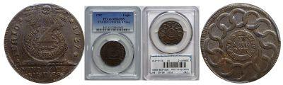 1787. Fugio Cent. PCGS. MS-63. BN.