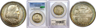 1893. PCGS. MS-66. Columbian/Expo.