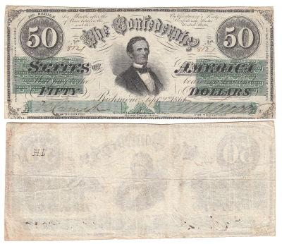 1861. $50. VF. T-16.