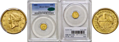 1853. PCGS. MS-64.