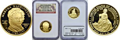 2007-W. NGC. PF-69. UCAM. Martha Washington $10.