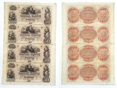 1850's. $50. CU. LA.