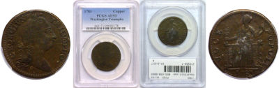 1783. Washington. PCGS. AU-53.