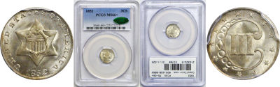 1852. PCGS. MS-66+.
