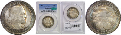 1893. PCGS. MS-66+. Columbian/Expo.
