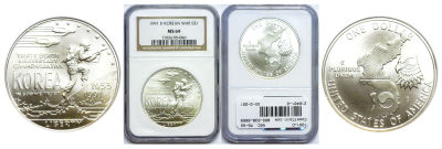1991-D. NGC. MS-69. Korean War.