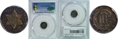 1866. PCGS. PR-65.