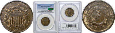 1864 Large Motto. PCGS. MS-63. BN.