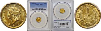 1849-O. PCGS. AU-58.