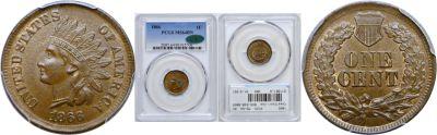 1866. PCGS. MS-64. BN.