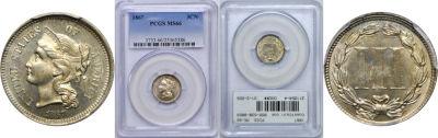 1867. PCGS. MS-66.