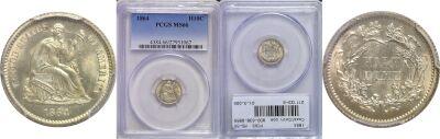 1864. PCGS. MS-66.