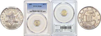 1852. PCGS. MS-66.