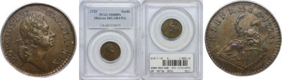1723. Wood's Hibernia. PCGS. MS-60. BN.