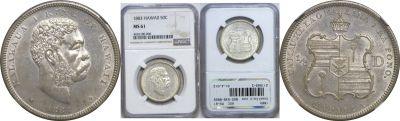 1883. Half Dollar. NGC. MS-61.