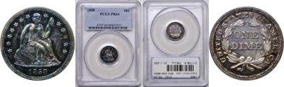 1858. PCGS. PR-64.