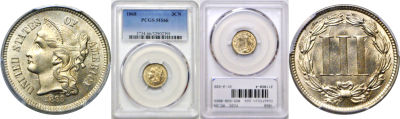 1868. PCGS. MS-66.