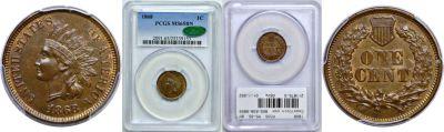 1868. PCGS. MS-65. BN.