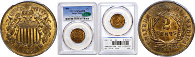 1864 Large Motto. PCGS. MS-64. RB.