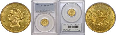 1843. PCGS. MS-62.