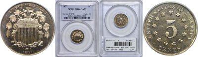 1877. PCGS. PR-66. CAM.