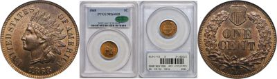 1868. PCGS. MS-64. RB.