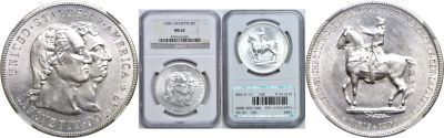 1900. NGC. MS-62. Lafayette Dollar.