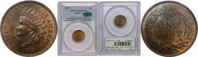 1873. PCGS. MS-65. RB.