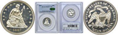 1867. PCGS. PR-65. CAM.