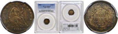 1860. Half Dime. PCGS. MS-64. J-267.