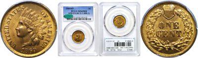 1869/9. PCGS. MS-65. RB.