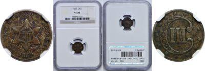 1852. NGC. VF-30.